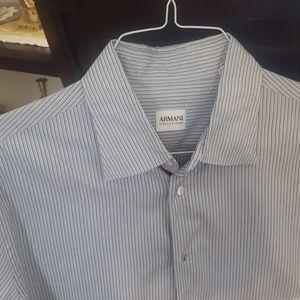 Giorgio Armani dress shirt size L arms 34/35